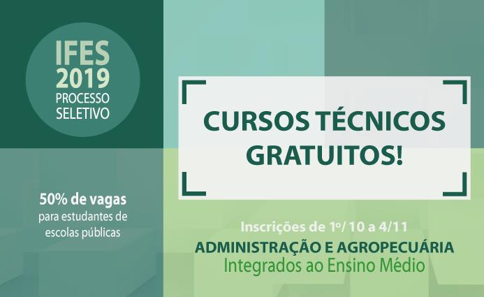 Ifes campus Montanha abre inscrições para cursos técnicos gratuitos.