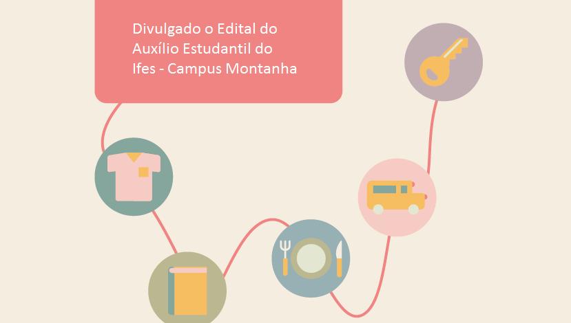 Lançado Edital de Assistência Estudantil para alunos do Ifes Campus Montanha